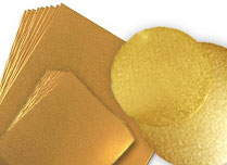 Gilded cardboard plates