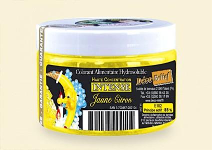 Водоразтворима боя на прах с висока концентрация - ЖЪЛТА - лимон - INT 11