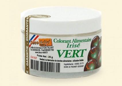 Ирисова (дъгоцветна) боя на прах - ЗЕЛЕНА CH157