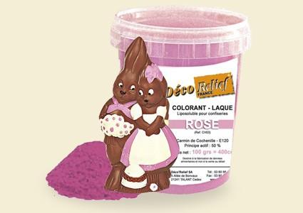Боя за шоколад с гланц - РОЗОВА CH53