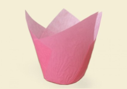 """ХАРТИЕНИ ЧАШКИ ЗА ПЕЧЕНЕ TULIP CUPS - """"ЛАЛЕ"""" 150/50 - розови"""