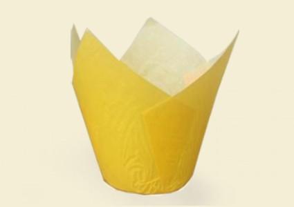 "ХАРТИЕНИ ЧАШКИ ЗА ПЕЧЕНЕ TULIP CUPS - ""ЛАЛЕ"" 150/50 - жълти"