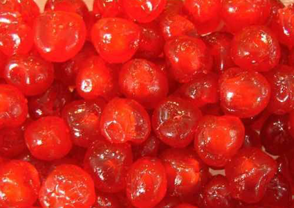 CANDIED CHERRIES WITHOURT SYRUP - red